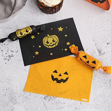 Holloween Nougat Wax Wrapping Paper For Candy Nougat Food Packaging Lovely Cartoon Floral Wrapper 200 pcs/lot