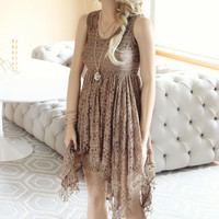 Dreamscape Dress in Taupe