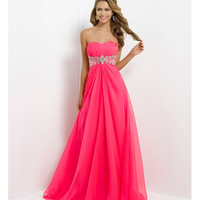 Blush 2014 Prom Dresses - Barbie Pink Strapless Empire Waist Prom Dress - Unique Vintage - Prom dresses, retro dresses, retro swimsuits.