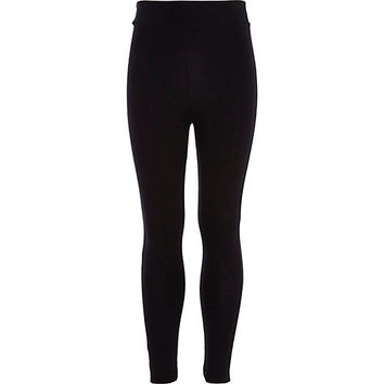 River Island Girls black leggings