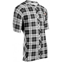 'Lumberjack' Short Sleeve Cycling Jersey by Sugoi in White/ Black