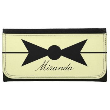 Vintage Bow with Name Wallets