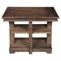 Ramsey Rustic Solid Pine End Table by Uttermost