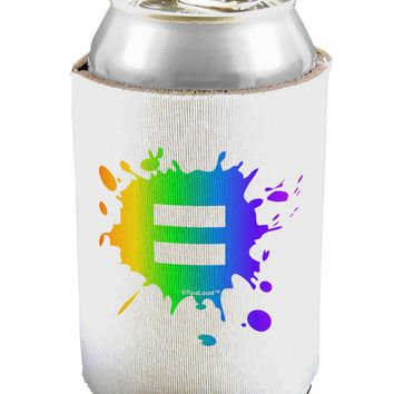 Equal Rainbow Paint Splatter Can / Bottle Insulator Coolers by TooLoud