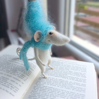 Mouse, needle felted mouse, toy, felted mouse, stuffed plush,  art doll, woolen miniature, cute animal, tender mouse