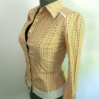 Vintage Western Style Calico Blouse by rileybella123 on Etsy