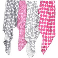 Bacati Ikat Swaddling Muslin Blankets, Available in Multiple Patterns and Colors - Walmart.com