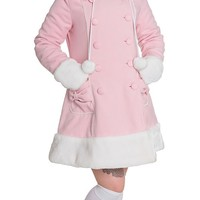 Sarah Jane Coat in Pastel Pink | Blame Betty
