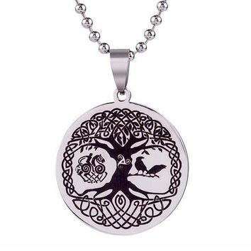 Norse Tree of Life Stainless Steel Necklace