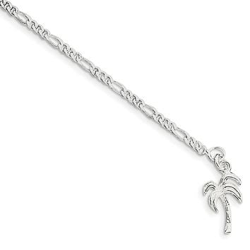 925 Sterling Silver 2mm Solid Polished Palm Tree Chain Necklace, Bracelet or Anklet