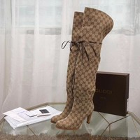 Beauty Ticks Gucci Women's Leather Boots Shoes #790