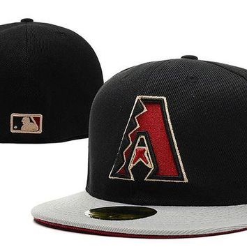 DCCKBE6 Arizona Diamondbacks New Era 59FIFTY MLB Hat Black-Red