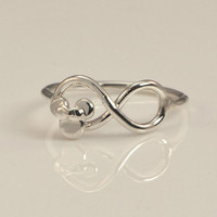 Minnie Mouse Ring - Disney Ring - Disney Jewelry - Minnie Mouse Jewelry - Infinity Ring - Infinity Jewelry