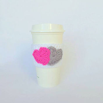 Coffee Cozy / Coffee Sleeve /  Crochet Coffee Sleeve / Love Coffee Cozy / Cup Cozy / Coffee Cup Cozy / Crochet Coffee Cup Cozy / Mug