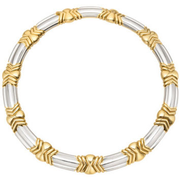 Bulgari 18k Yellow & White Gold Link Collar Necklace