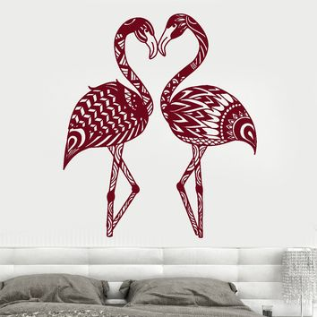 Vinyl Wall Decal Flamingo Abstract Exotic Birds Room Decor Stickers Unique Gift (1931ig)