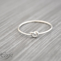 Love knot ring, Celtic knot, Bridesmaids gift, Friendship ring, Sterling silver, Handmade