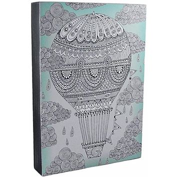 Color It Yourself Hot Air Balloon Box Sign