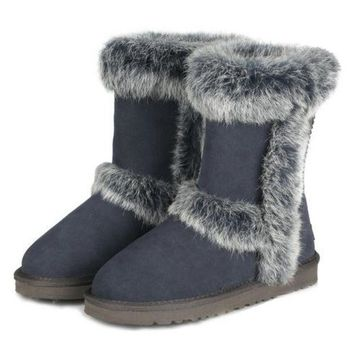 UGG Fashion Women Fur Wool Snow Boots In Tube Boots Shoes