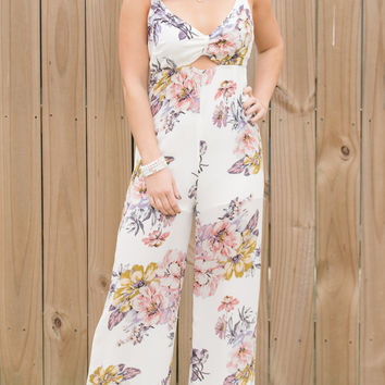 Making Moves Floral Jumpsuit
