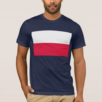 T Shirt with Flag of Poland