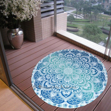 Indian Ombre Round Mandala Tapestry Wall Hanging Towel Yoga Mat Hippie Beach Throw