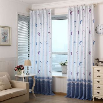 Country Style Print Sheer Curtains For Living Room