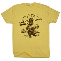 The Great Smoky Mountains T Shirt Smokey Bluegrass Bear hiking camping climbing Funny Camping Tee