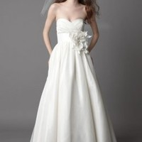 Off-shoulder Girls Simple Wedding Dresses : Wholesaleclothing4u.com