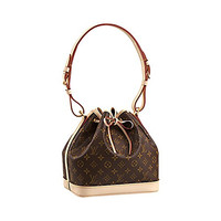 Authentic Louis Vuitton Monogram Canvas Petit Noé NM Shoulder Bag Strap Handbag Article: M40818