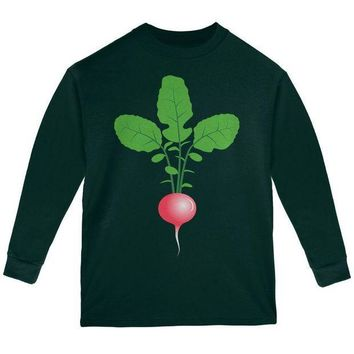 PEAPGQ9 Halloween Vegetable Radish Costume Youth Long Sleeve T Shirt