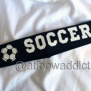 Soccer Headband (Designs in glitter)