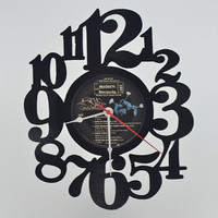 Music Art Unique Handmade Vinyl Record Clock (artist is Stevie Nicks)