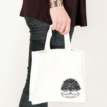 Family Oak Tree Personalized Tote Bag Tote Bag with Gussets Chocolate Brown (Pack of 1)