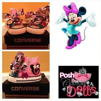 minnie inspired bling converse