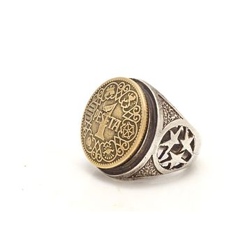 Spanish Old, Collector's Coin Ring - 1 Peseta Coin of Spain