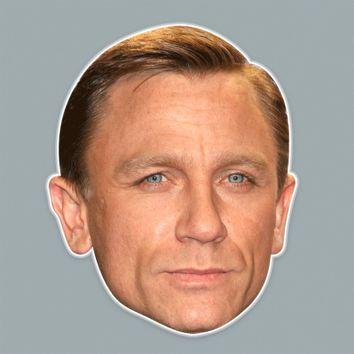Angry Daniel Craig Mask - Perfect for Halloween, Costume Party Mask, Masquerades, Parties, Festivals, Concerts - Jumbo Size Waterproof Laminated Mask
