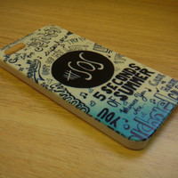 M-131-5 seconds of summer iphone 4 case iphone 4s case 5SOS iPhone 5 Case iPhone 5s Case 5SOS