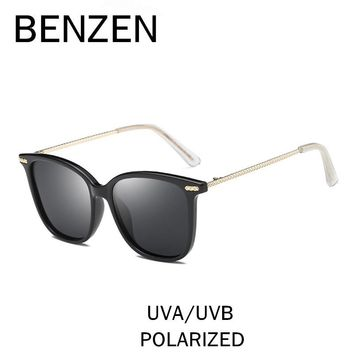 BENZEN HD Polarized Sunglasses Women Vintage Square Female Sun Glasses Retro UV 400 Ladies Driving Glasses Shades With Box 6515