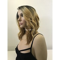 Balayage Lob Lace Front Wig HH Blend - Kaitlynn
