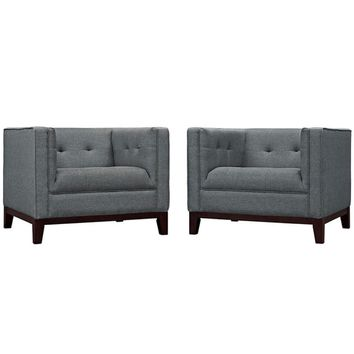 Serve Armchairs Set of 2, Gray