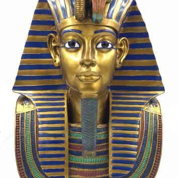 King Tut Funerary Mask Collectible Statue Grande 18.75H