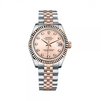 Rolex Lady-Datejust 31 178271 Rose Gold & Stainless Steel Watch (Pink Set with Diamonds) | World's Best