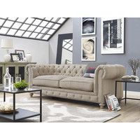 OXFORD BEIGE LINEN SOFA