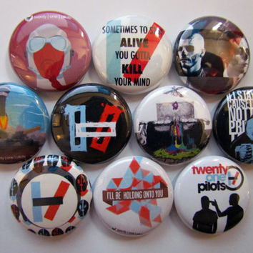 Twenty One Pilots Pinback Button 21 Pilots Button Badge Pin