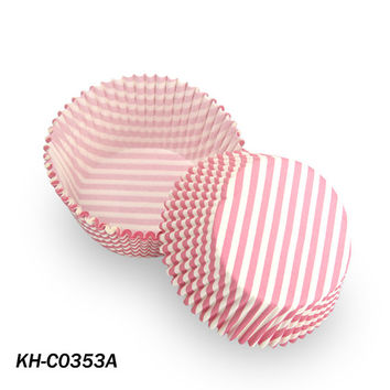 Pink stripe cupcake paper,Wrapping Paper,wedding party greaseproof cupcake liners/wrapper