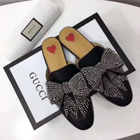 GUCCI Princetown leather with bow