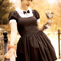 Gloomth Tuxedo Dress Skull Bow Tie Goth Sizes XS to 2XL by gloomth