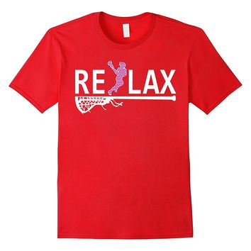 reLAX youth lacrosse shirts Lacrosse funny tshirt