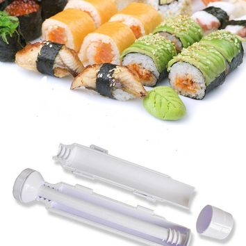 kitchen tool Sushi machine Roller Sushi Roll Mold Making Kit Bazooka Rice Meat Vegetables DIY Making Kitchen Gadgets Supplies